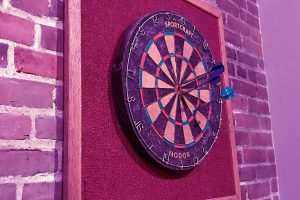 Kevin Serrano talks about the Cookson dartboard.